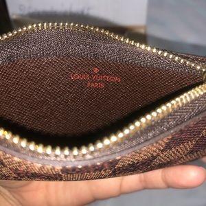 Louis Vuitton Accessories - New Louis Vuitton key pouch cles damier ebene DE